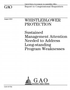 GAO Report on Whistleblowers 1