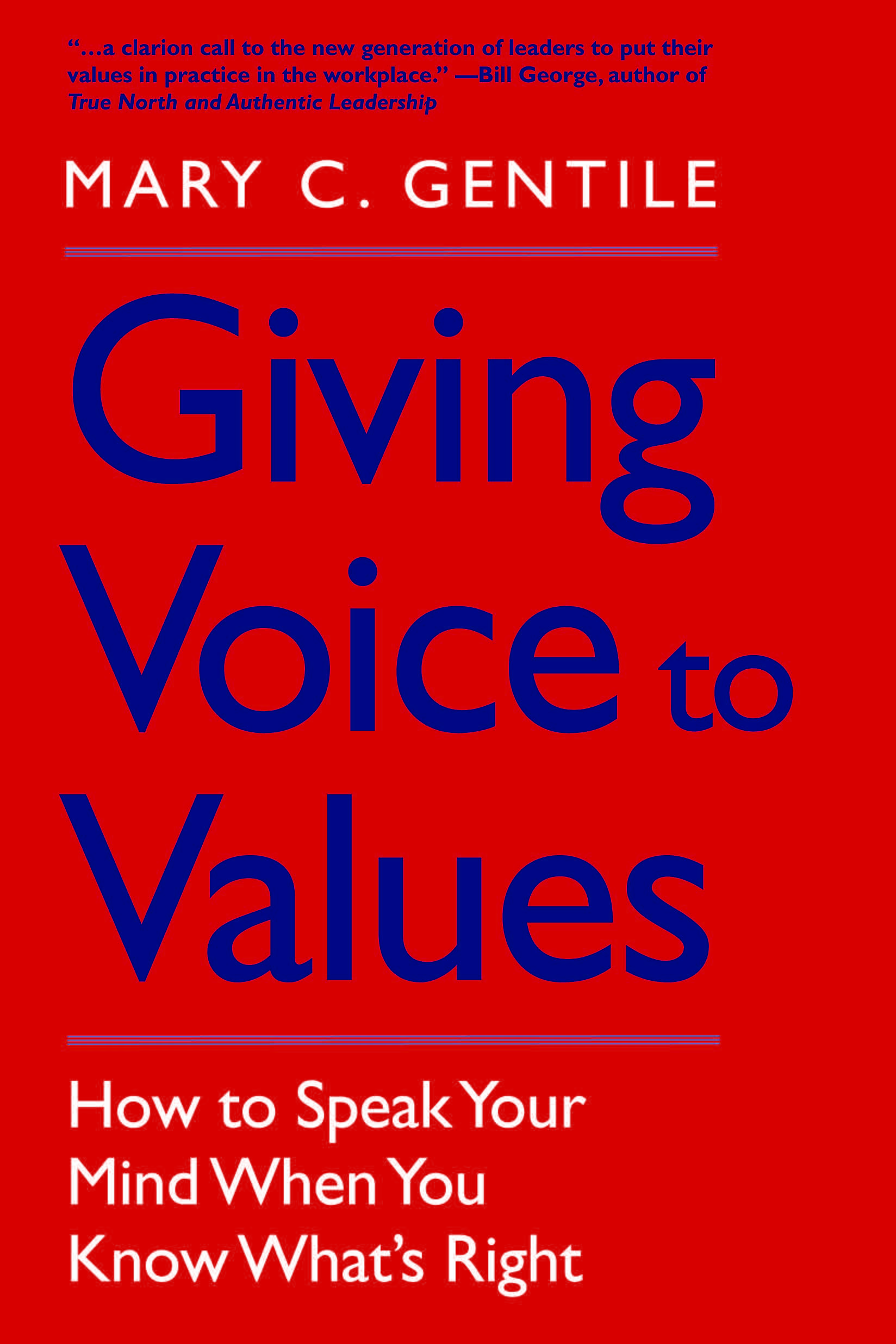 Join us for Giving Voice to Values