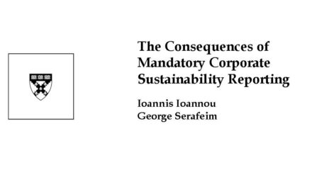 Study: Mandatory Sustainability Reporting Improves Behavior