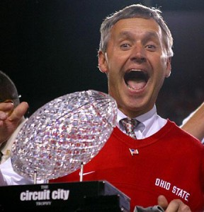 Former Ohio State University football coach Jim Tressel.  December 2007.